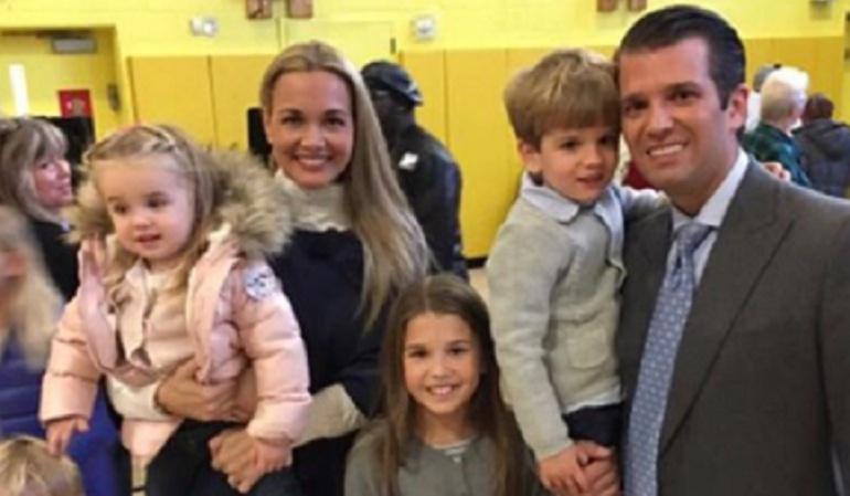 Trasladan a hospital a esposa de un hijo de Trump tras abrir sobre sospecho