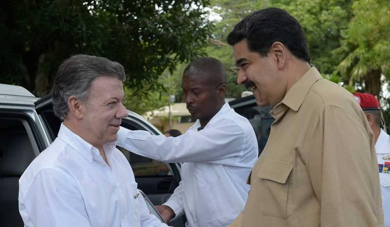 Maduro dice que gestionará reunión con Santos