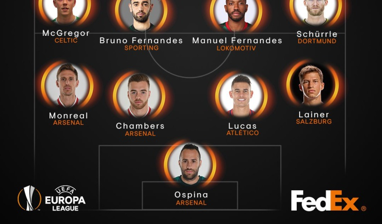 David Ospina once ideal Liga de Europa: David Ospina, en el once ideal de la semana de la Liga de Europa