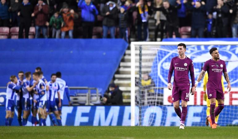 FA Cup Manchester City Wigan: Manchester City es eliminado de la FA Cup por el Wigan