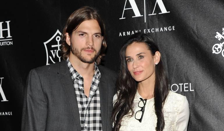 Ashton Kutcher y Demi Moore