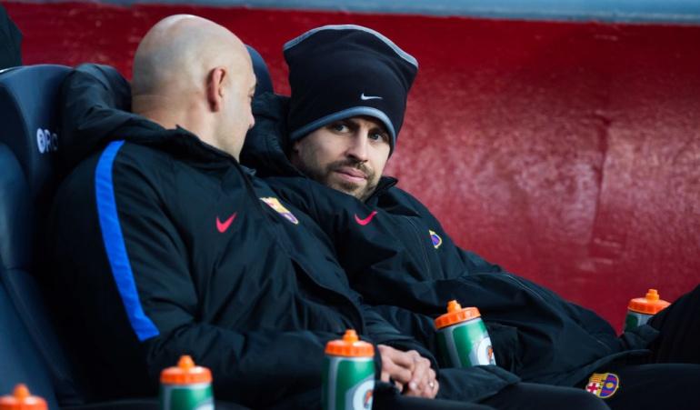 Piqué Barcelona Mina: Piqué no entrenó con Barcelona y es posible que no juegue ante el Girona
