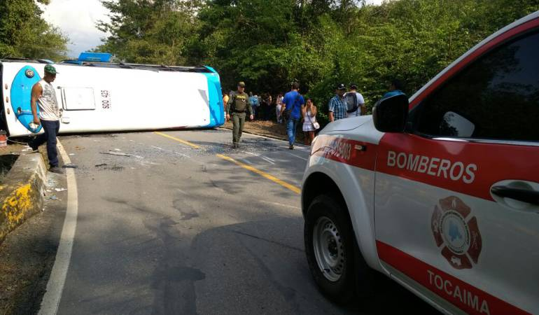 accidente buseta empresa tequendama