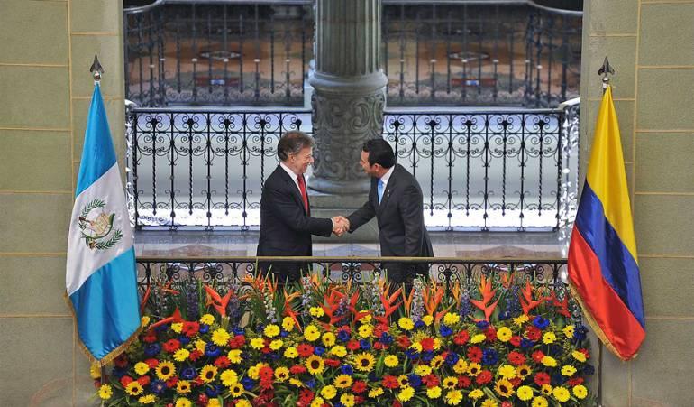 Presidente de Colombia y Guatemala