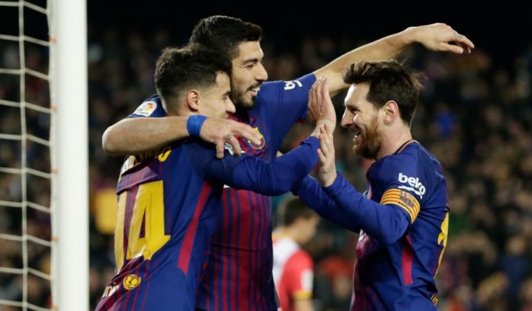 Barcelona Girona: Sin Yerry Mina, Barcelona goleó 6-1 al Girona