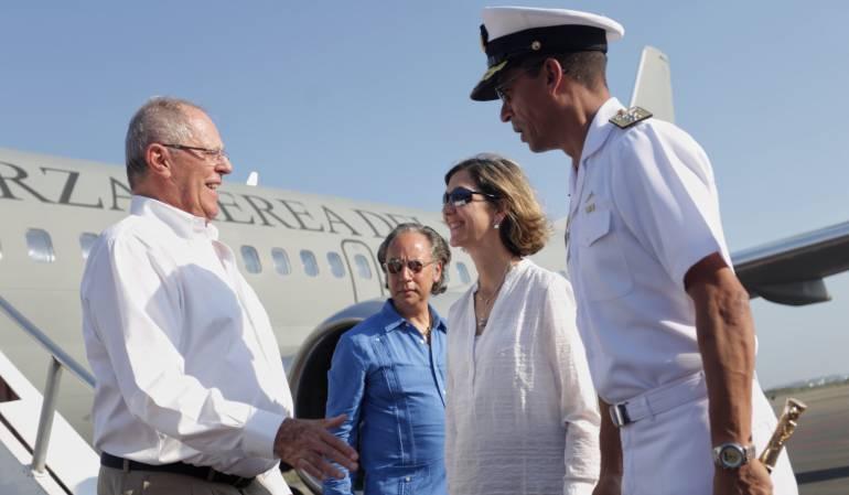 Gabinete Binacional: Presidente de Perú ya está en Cartagena para el cuarto gabinete binacional