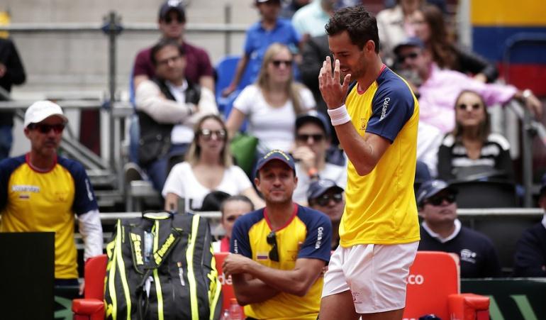 Santiago Giraldo Copa Davis: Santiago Giraldo regresará luego de más de 6 meses al equipo de Copa Davis