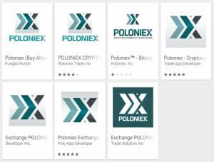 La falsa aplicación Poloniex en Google Play.