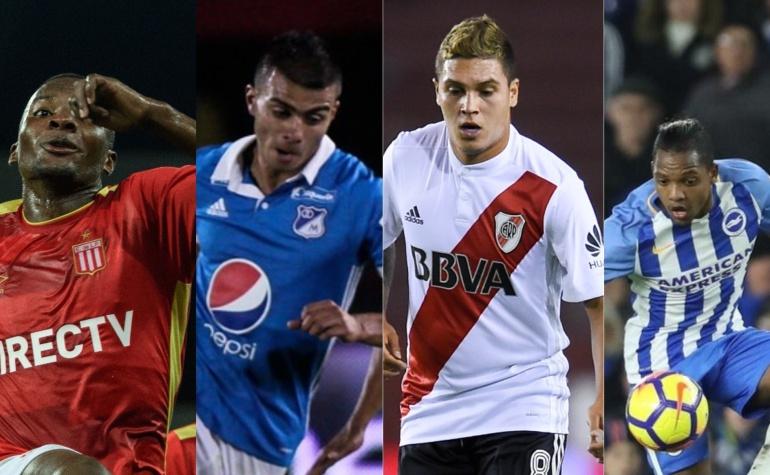 Juan Ferney Otero, Jhon Duque, Juan Fernando Quintero y José Izquierdo.