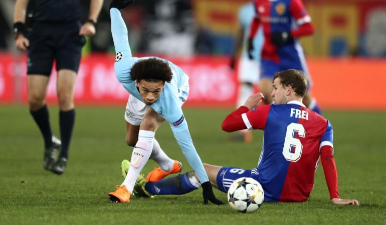 Manchester City Basilea Liga de Campeones: Manchester City (4) Vs. (0) Basilea, octavos de final Liga de Campeones