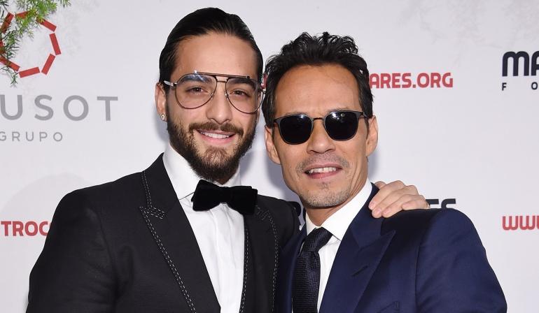 Beso entre Marc Anthony y Maluma: Así fue el beso entre Marc Anthony y Maluma en Nueva York