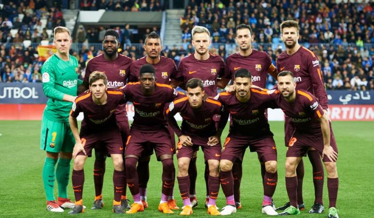 Barcelona Málaga Yerry Mina: Barcelona venció 2-0 al Málaga con Yerry Mina como suplente