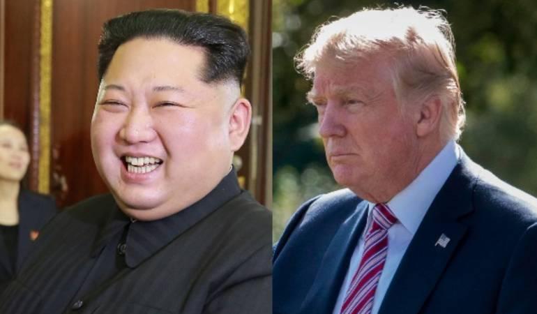 Trump  y Kim Jong-un.
