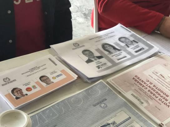 Fotocopias de los tarjetones para consulta que se acabaron.