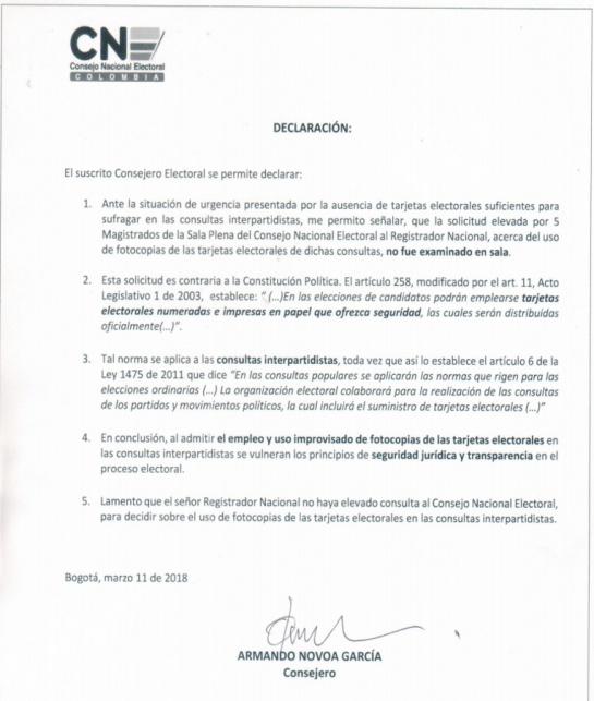 Se acabaron los tarjetones para la votación de Consultas en Colombia: Con fotocopias los colombianos comienzan a votar en consultas de partidos