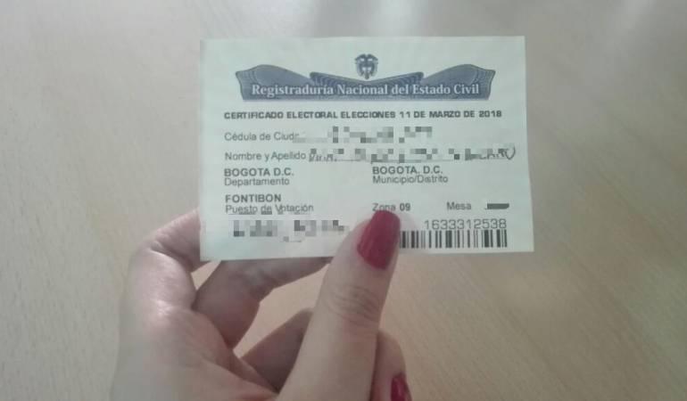 Este es el certificado electoral entregado este domingo 11 de marzo. Las personas que lo tengan pueden disfrutar de ciertos beneficios.