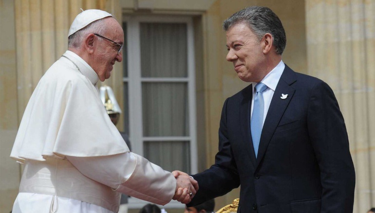 5 años del papa Francisco: Gracias por ayudarnos a construir la paz en Colombia: Santos al papa