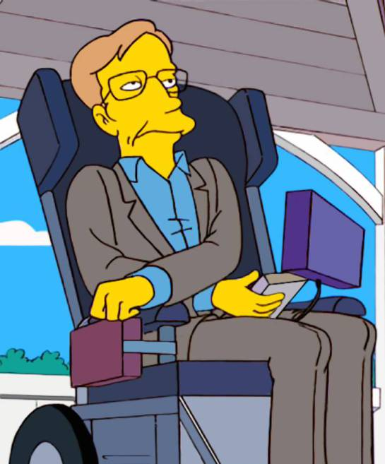 Hawking consideraba a 'Los Simpson' la mejor serie de todos los tiempos. Así fue representado en uno de los capítulos.