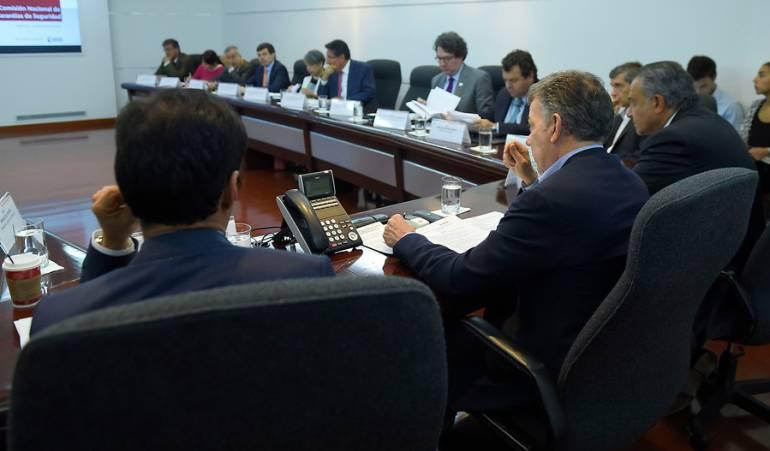 La comisión nacional de garantías para analizar la situación de seguridad de los líderes sociales