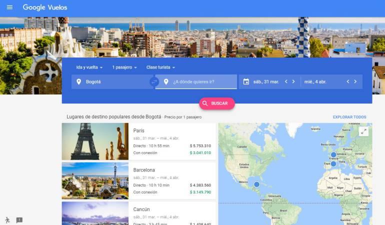 Google Vuelos: Google Flights llega a Colombia para facilitar la búsqueda de tiquetes