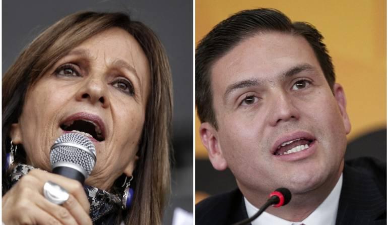 Ángela María Robledo y Juan Carlos Pinzón, las fórmulas de Vargas y Petro