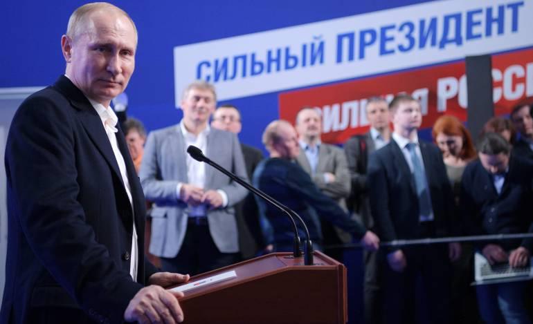 Vladímir Putin, reelegido en Rusia