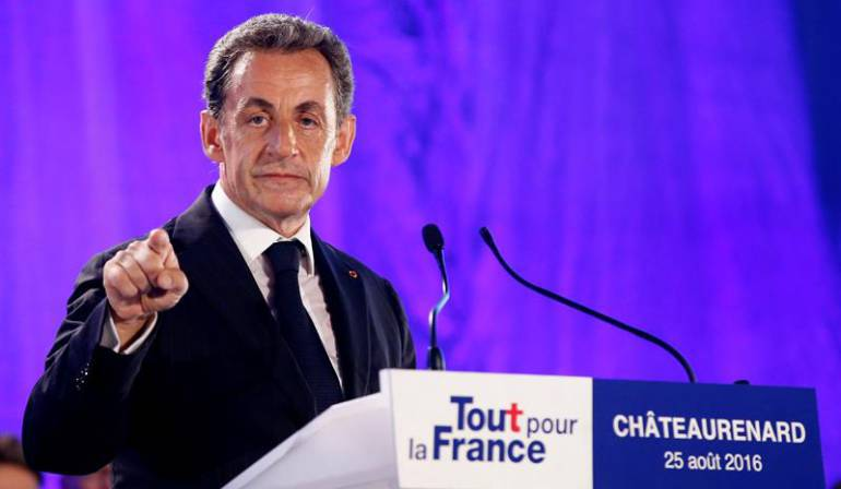 Detuvieron por corrupción al ex presidente de francés Nicolas Sarkozy