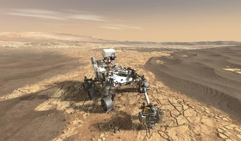 Resultado de imagen de El todoterreno Curiosity de la NASA, sobre la superficie de Marte (NASA)