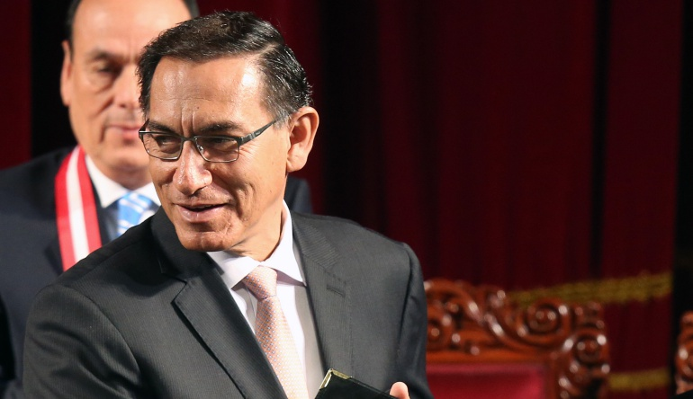 El vicepresidente Martín Vizcarra