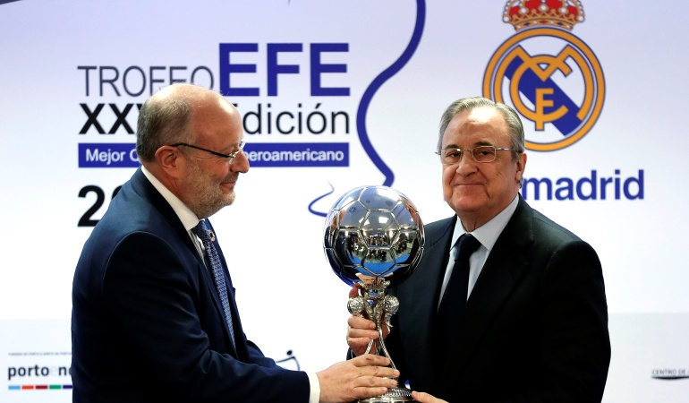 Real Madrid Trofeo EFE: Real Madrid recibió el Trofeo EFE al Mejor Club Iberoamericano
