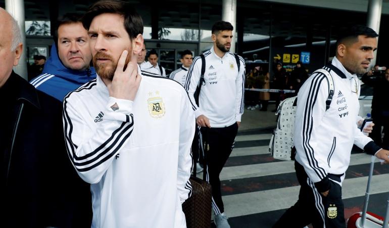 Messi Argentina España: Messi no participó del entrenamiento argentino de cara al juego ante España