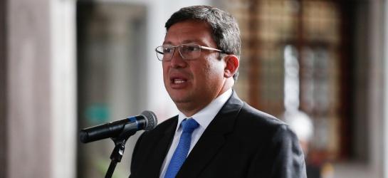 Ministro del Interior de Ecuador, César Navas