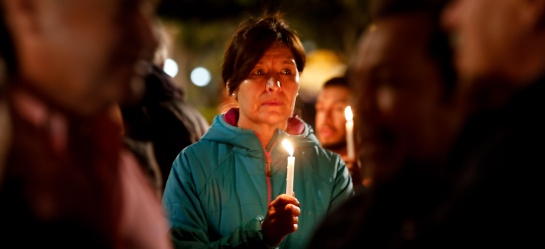 Vigilia por la liberación de los periodistas ecuatorianos