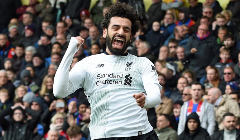 Liverpool remonta, con gol de Salah, ante el Crystal Palace
