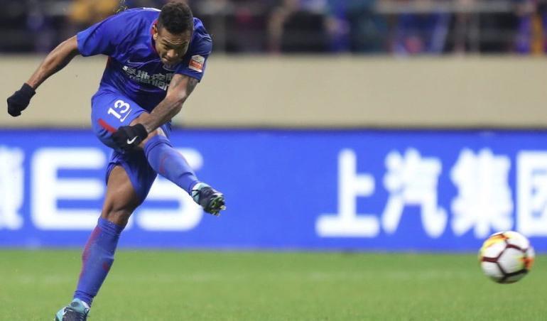 Fredy Guarín gol Shanghái Shenhua: Fredy Guarín anotó en la victoria del Shanghái Shenhua en el fútbol chino