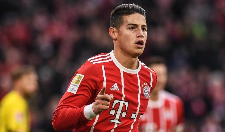 James Rodríguez gol asistencia Bayern Múnich: James: gol y dos asistencias en la paliza del Bayern Múnich al Dortmund