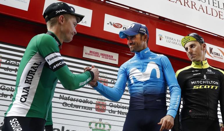 Alejandro Valverde Miguel Induráin Carlos Betancur: Alejandro Valverde, ganador del Gran Premio Miguel Induráin