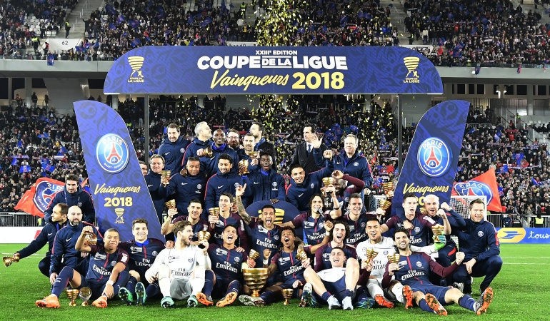 PSG Mónaco Copa de la Liga: PSG se coronó campeón de la Copa de la Liga frente al Mónaco de Falcao