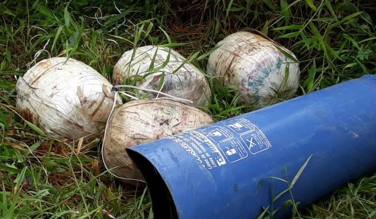 Incautaión de explosivos en Arauca: 150 kilos de explosivos del Eln neutralizados en Arauca