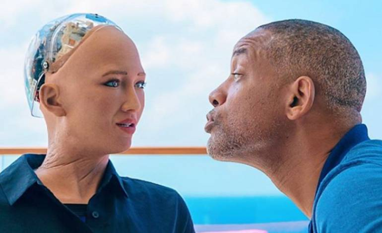 Will Smith, Nicky Jam, J Balvin, Marc Anthony: Will Smith es sensación nuevamente en redes intentando seducir una robot