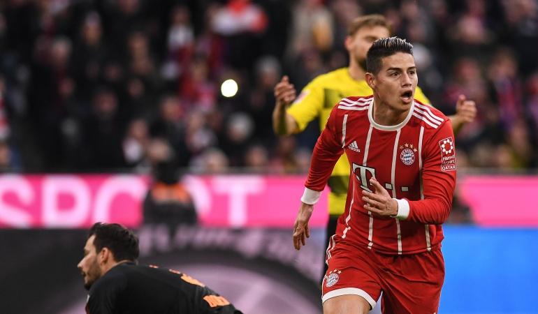 James, gol y dos asistencias en la victoria del Bayern