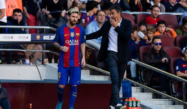 Luis Enrique Messi Barcelona: Dirigir a Messi es facilísimo: Luis Enrique, exentrenador del Barcelona