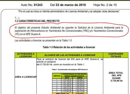 Proyectos de exploración minera en Santander: Anla adelanta evaluación de licencia sobre fracking en Santander
