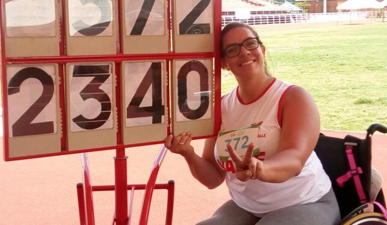 Erica Castaño récord: Erica Castaño bate el récord paralímpico de América en lanzamiento de disco