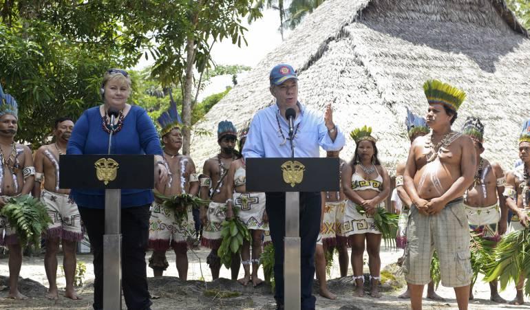 Protección ambiental Colombia: Santos aumentará de 30 a 38 millones las hectáreas protegidas en Colombia