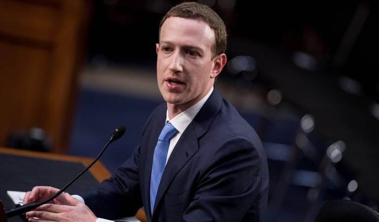 Mark Zuckerberg, fundador de Facebook, ante el Congreso de Estados Unidos.