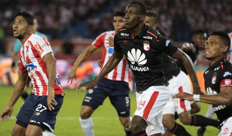Junior 1-1 Santa Fe Liga Águia: Junior y Santa Fe dividen honores en un vibrante partido en Barranquilla