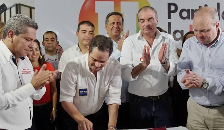 Apoyo de la U a Vargas Lleras: La U oficializó su respaldo al candidato Germán Vargas Lleras