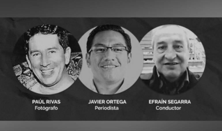 Periodistas ecuatorianos: Las campañas presidenciales reaccionaron al asesinato de los 3 periodistas