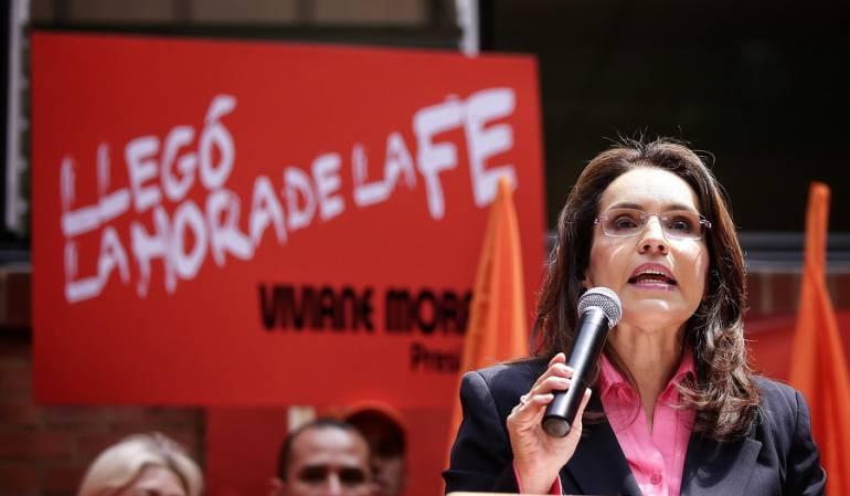 El partido Colombia Justa Libres apoyará a Viviane Morales